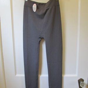 NWT Gray Fleece Leggings